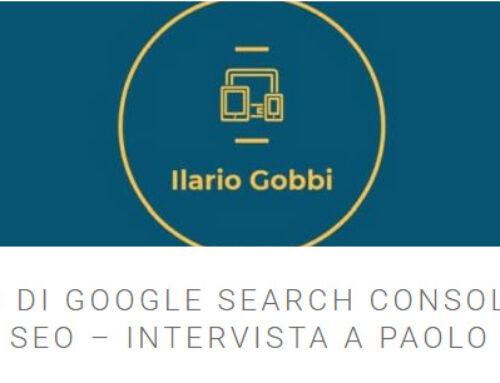 Ho parlato di Google Search Console in un'intervista