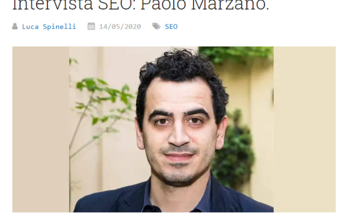 Intervista a Paolo Marzano sui Fattori di Ranking di Google